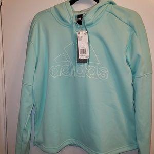 Teal Adidas hoodie
